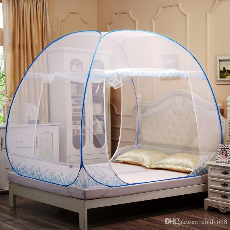Mosquito Net Two Door Adults Double Bed Folding Netting Tent Sleeping Accessory