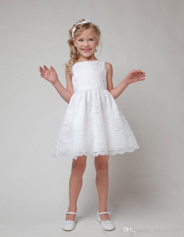 2019 Kids Dress Baby Girls Dress 2018 SUMMER NEW Children Clothes Girls  Beautiful Lace Dress Quality White Teenager For Age 3 11 From Haofei3487,
