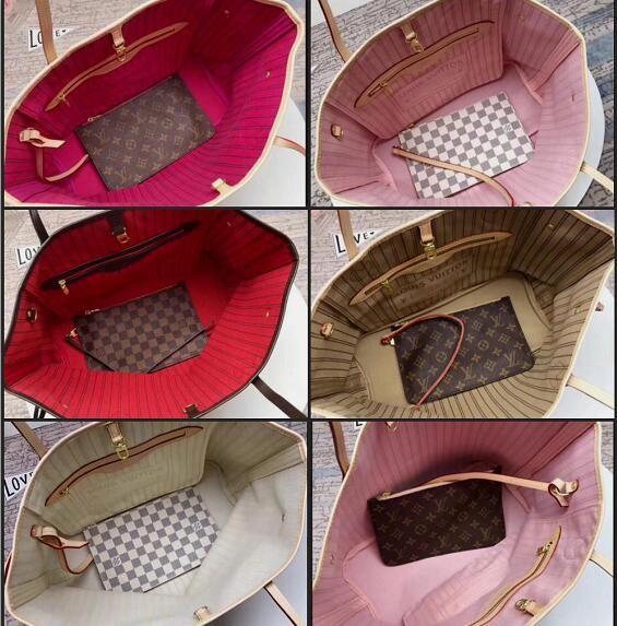 wholesale price sell fashion women NEVERFULLS Genuine leather handbag tote wallet shopping shoulder bag