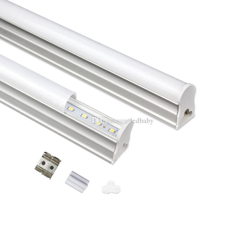 900mm 통합 T5에 의하여지도 된 관 3FT 3 개 18W SMD2835에 의하여지도 된 형광등 빛 온난 한 / 찬 백색 AC 85-265V + CE ROHS UL