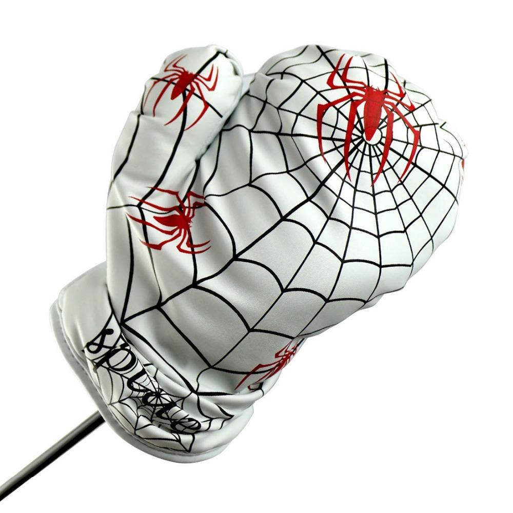 1pc Golf Driver Head Cover Spider tipo de boxeo con 1 juego de marcadores de clip