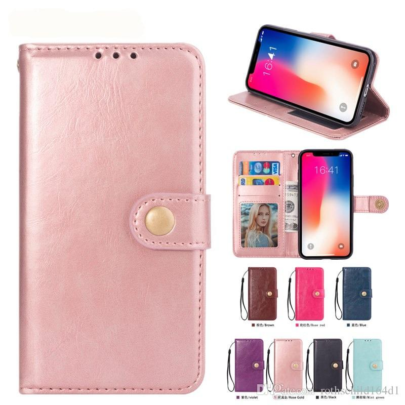 Phone Case for iPhone XS Max XR XS 6 7 8 Plus With Soft TPU High Quality Plain Vintage PU Leather Flip Wallet i5 SE 6 7 8