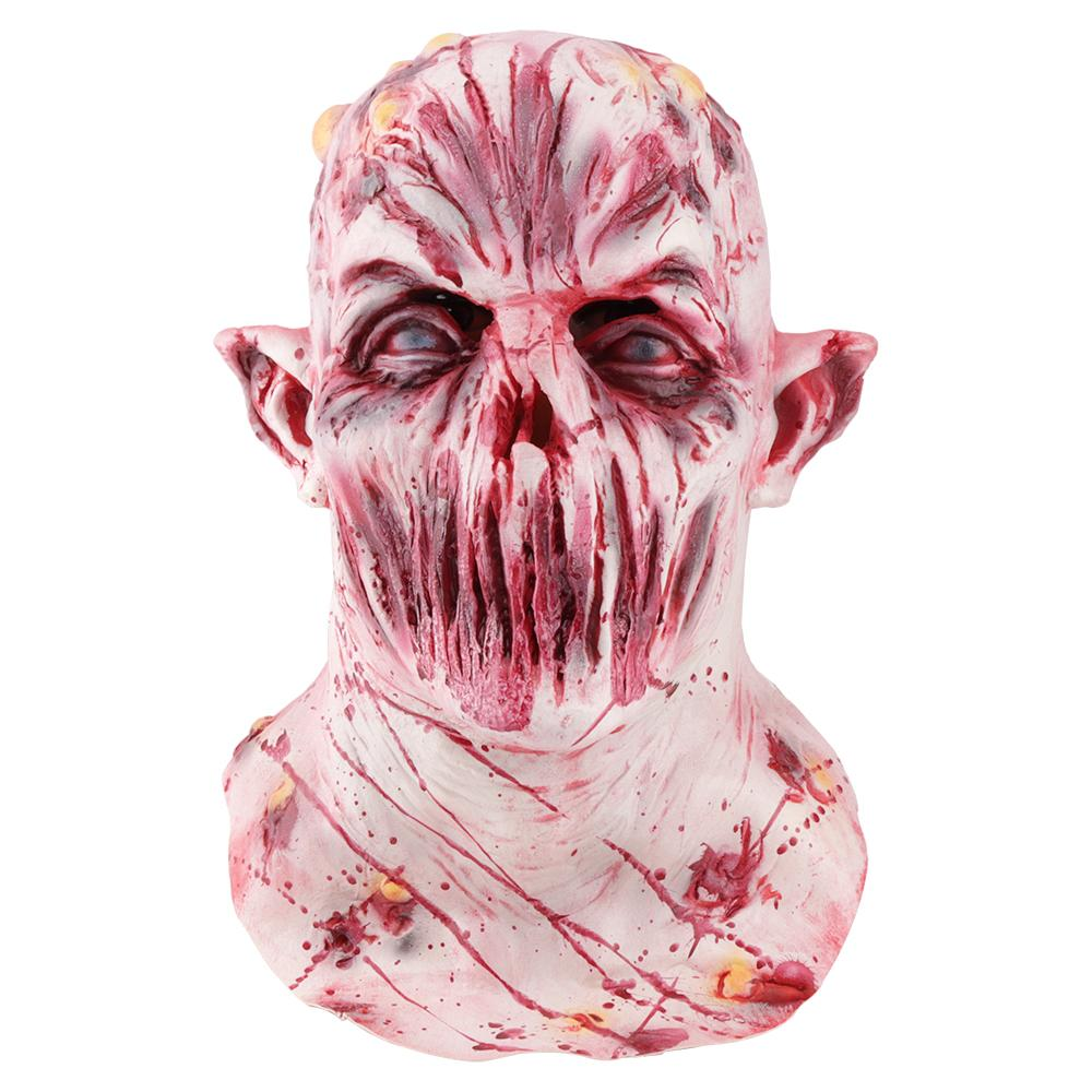 2018 Halloween Mask Scary Zombie Ghoul Full Face Mask Halloween Party Decoration Latex Mask Mens Women Cosplay Costume Supplies