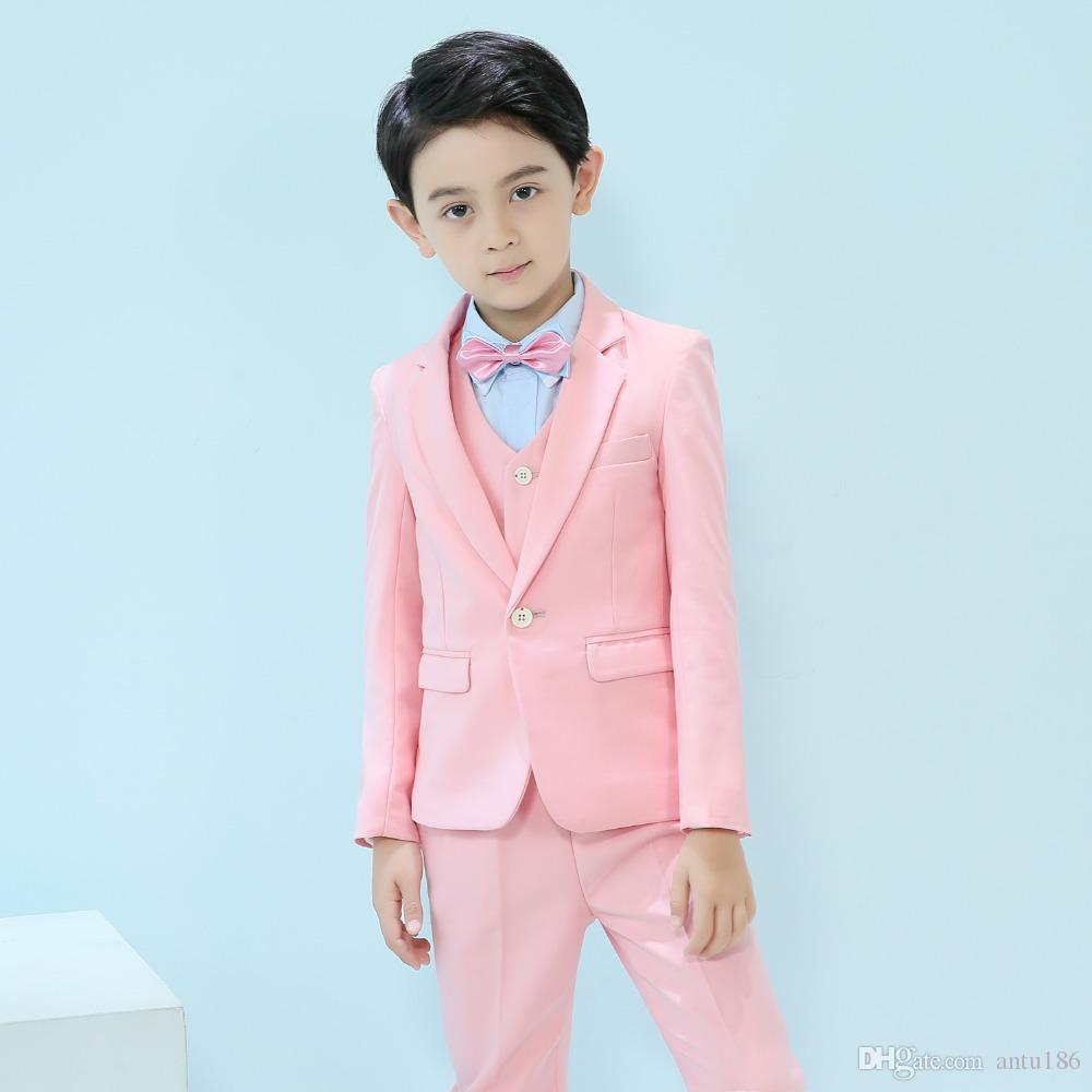 Üç parçalı erkek ve çocuk takım elbise, ince takım elbise, çeşitli renk seçenekleri, resmi, düğün ve diğer günler için uygundur.