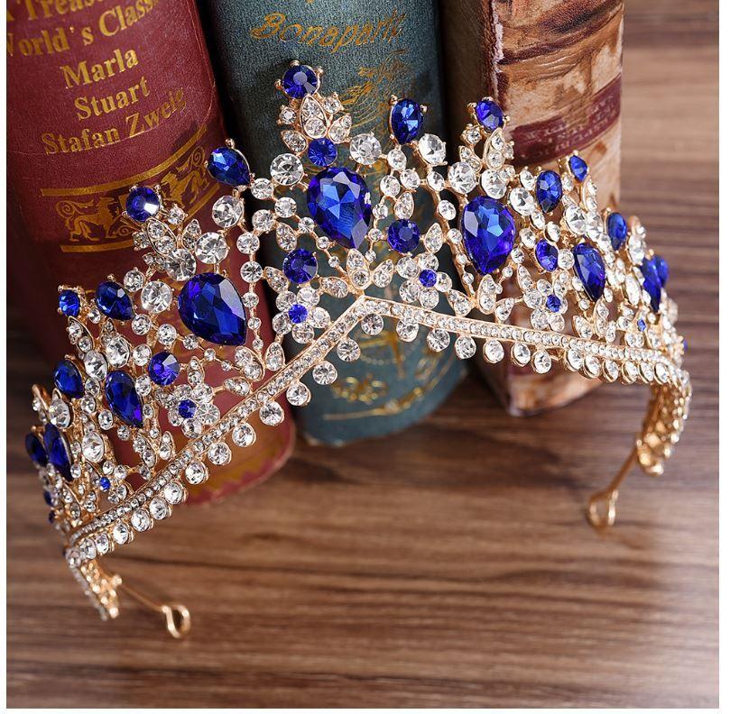 H1084 yeni Kore elmas düğün taç, popüler gelin taç, gelinlik aksesuarları toptan, 5 renk seçenekleri