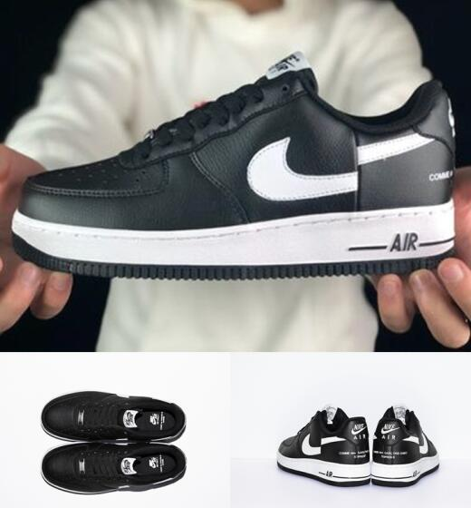 wholesale dealer 8f489 1ec3d Supreme X CdG SHIRT Classic Forces 1 Forceing Low Black AF1 Designer Skate  Skateboard Unisex Air Force 1 Men And Women Running Flat Sneakers Geox ...