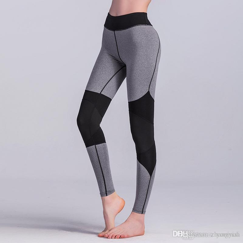 Wholesale Free Shipping Sexy Women Mesh Workout Tights Yoga Sport Leggings Fitness Women Push Up Pants Running Trousers
