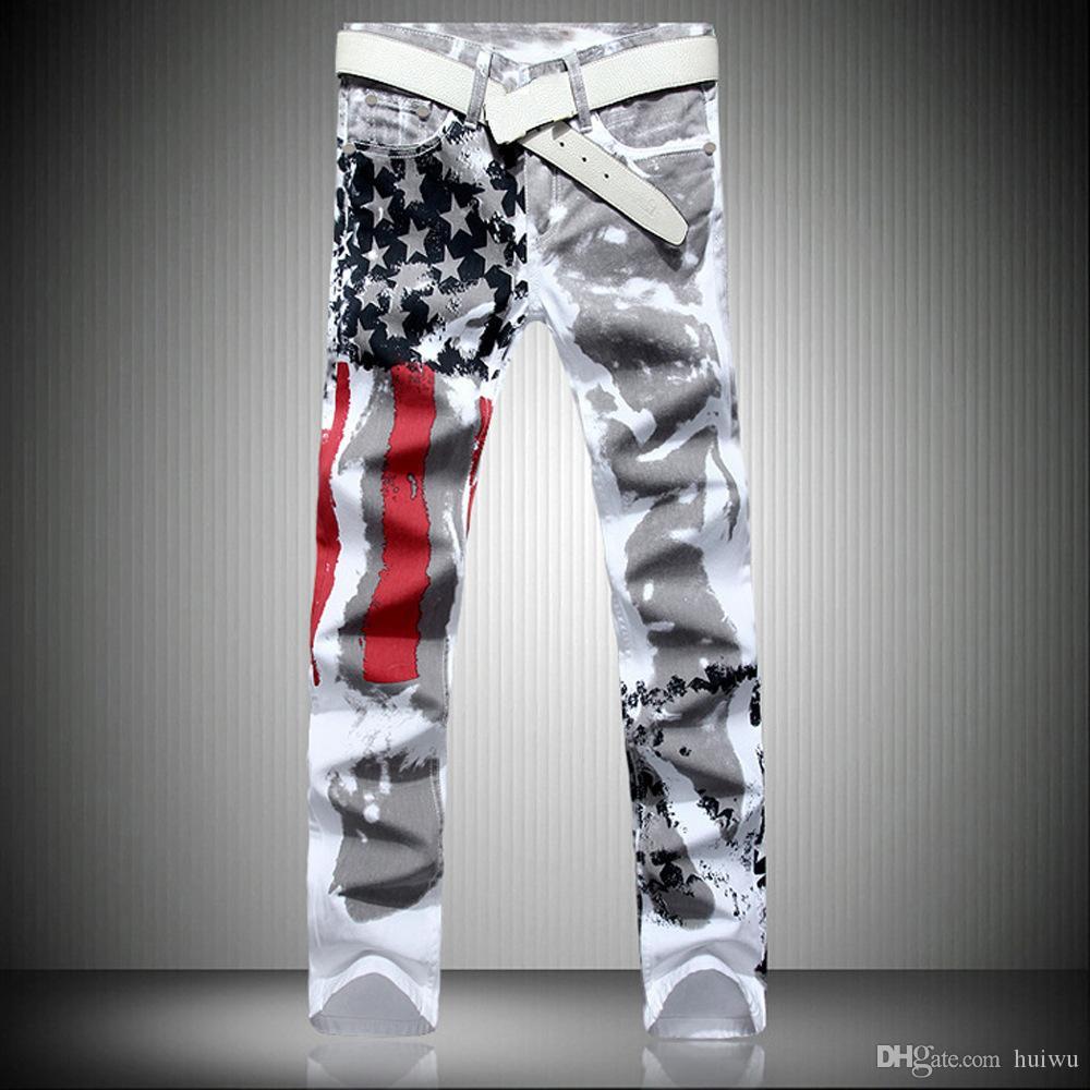 الرجال مصمم الأزياء الساخن جينز الرجال جينز روبن الشهير عادية سليم الدينيم مع أجنحة زائد الحجم