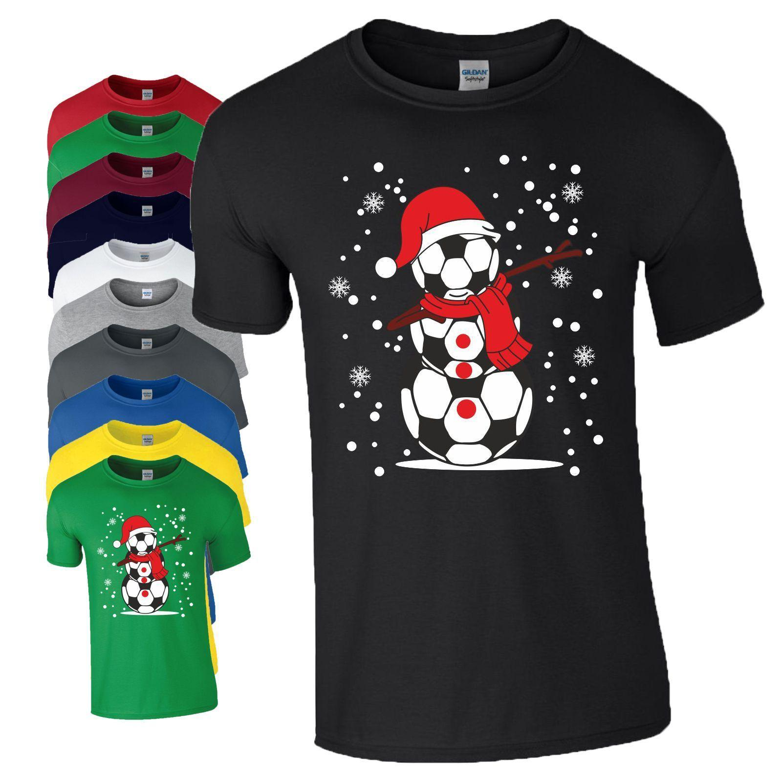 Penguin Merry Christmas Printed T Shirt Mens Boys Xmas Short Sleeve Cotton Tee