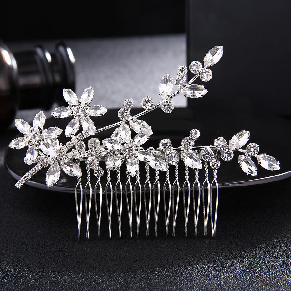 Clássico Cristal Rhinestone Cabelo Pentes de Cabelo Nupcial Jóias Acessórios Para o Cabelo Do Casamento Headpieces Mulheres Tiaras JCH138