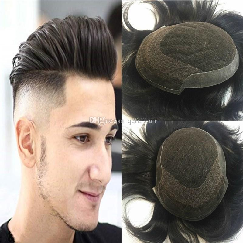 2019 French Lace Mens Toupee Remy Human Hair