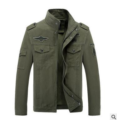 Men s coat jacket autumn winter Men's Casual Jacket Air Force Cotton Washed Work Clothes Style Large size male coats