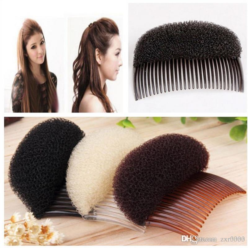 Maquiagem pente escova de cabelo pro Hair Puff Paste Dispositivo de Alongamento de Penteado de cabelo grampo de cabelo Hase Acessórios Aumentar Esponja Fazer Pad Hot