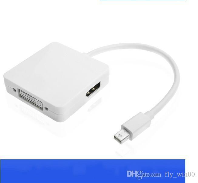 For MacBook Air Pro iMac Mac Mini Thunderbolt Mini Display Port Display Port 3 In 1 Mini DP To DVI VGA HDMI Cable Adapter 1080P