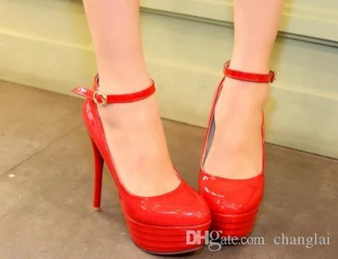 Free send 2014 spring new style fashion Fine heel high heel waterproof table round head women's shoes