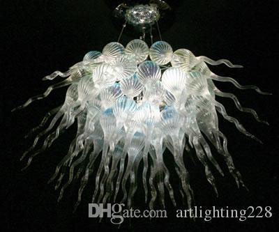 100% boca soplado borosilicato moderno luz de la lámpara en casa boda Decoraton Dale Chihuly mano soplado vidrio colgante de luz