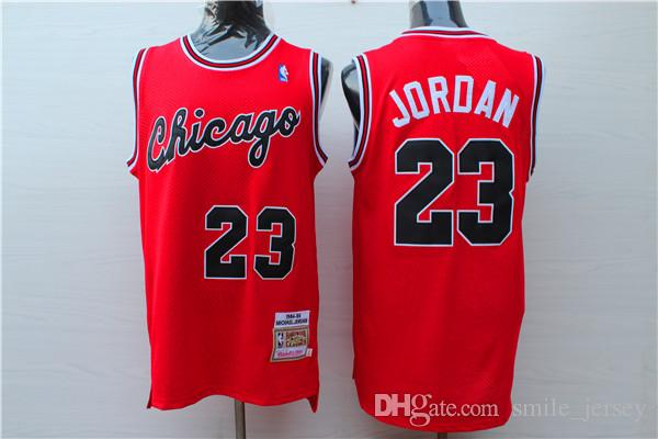 huge selection of 3203b fc8bf 2018 2019 New Retro Mens Mitchell & Ness Basketball Jerseys Stitched  Classic Mesh Hardwood 23 Michael JD Retro New Red Chicago Basketball Jersey  From ...