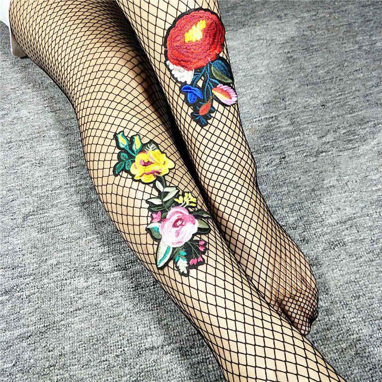 GraceQueen pantynose calza autoreggenti cime sexy in mesh con ricami lunghi calzini sopra leggings calza sex womensocks per tacchi alti