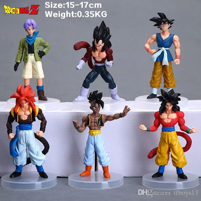 2018 new arrival gift for kids Cartoon Dragon Ball Z PVC Action Figure Goku Son Toys Figures Dolls 6Pcs/set 12CM Free Shipping t493