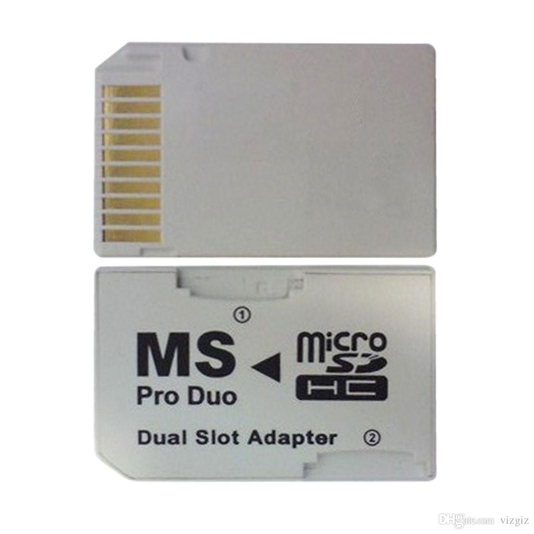 NOYOKERE New Hot Sale Dual 2 Slot Micro For SD SDHC TF to Memory Stick MS Card Pro Duo Reader Adapter For PSP