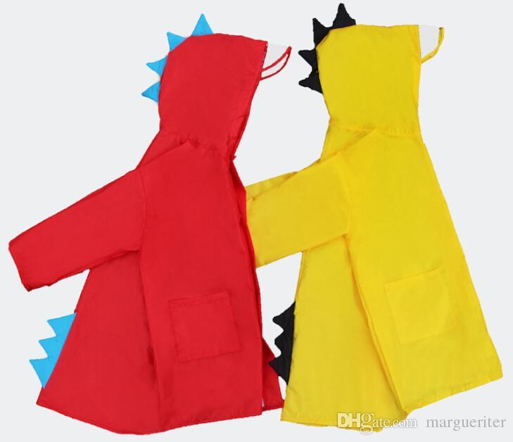 ديناصور صغير الأطفال المعطف البوليستر الطفل ماء المعطف الفتيان الفتيات ملابس ضد المطر الاطفال معطف المطر