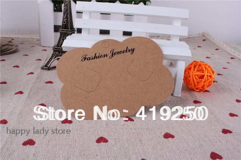 300pcs Barrette Display Cards Large Kraft Paper Tags clips card Escort Cards