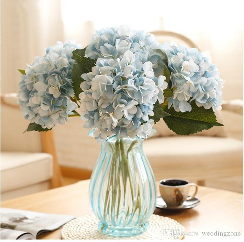 14 Colors Artificial Silks Hydrangea 19cm/7.5inch Simulation Single Branch Silk Hydrangeas For Wedding Centerpieces Home Decorative Flowers