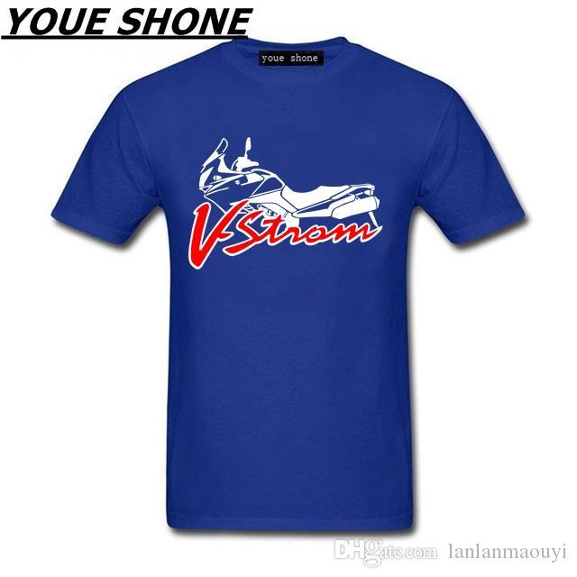 Maglietta degli uomini di modo Suzuki V-strom DL 650 Logo della squadra di sport del motorino Maglietta degli uomini Maglietta del cotone Maglietta di alta qualità manica corta del cotone del pullover