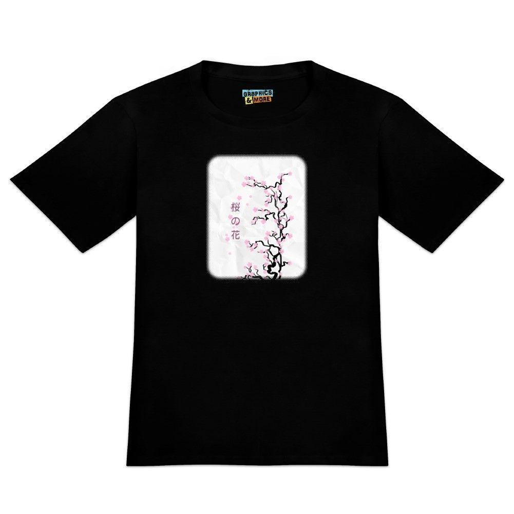 Cherry Blossom Tree Pink Japanese Men's Novelty T-Shirt Funny free shipping Unisex Casual