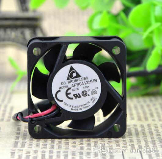 Oryginalny Delta 40 * 40 * 15 4cm 12 V 0.2a AFB0412HHB Dual Ball Fan