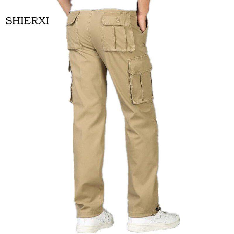 Pantalones para hombres Invierno espesando hombres Hombre cálido recto Mantenga los pantalones pantalones Broek