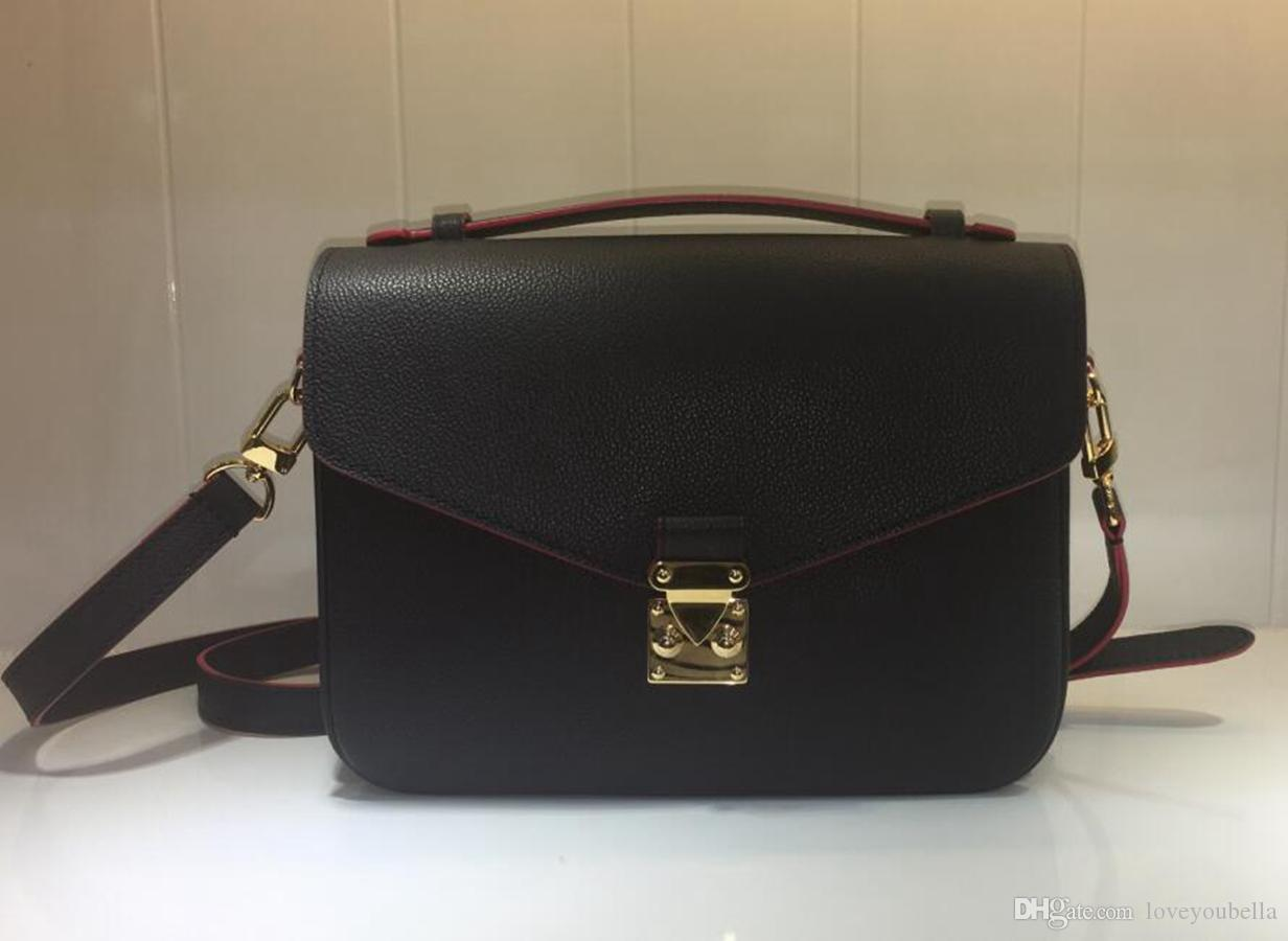 luxury Woman handbag fashion High Quality leather messenger bag metis handbag shoulder bag Messenger flap bag red blue black free shipping