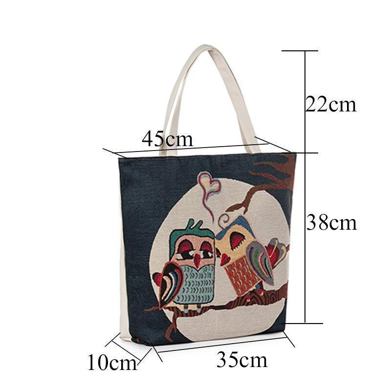 New Women/'s Handbags Ladies Beach Bag Girls Bags Owl Print  Tote Bag Beach Bags