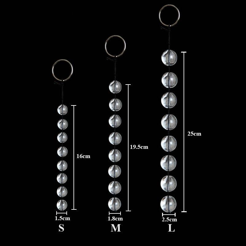 Balls Glass Anale Adulto Plug Crystal Vaginal Y18110106 Masturbatore per talloni da calcio Prodotti anale Donne 3SIs / Lotto Sesso gay Plug Toys Sex Toys A Jldi