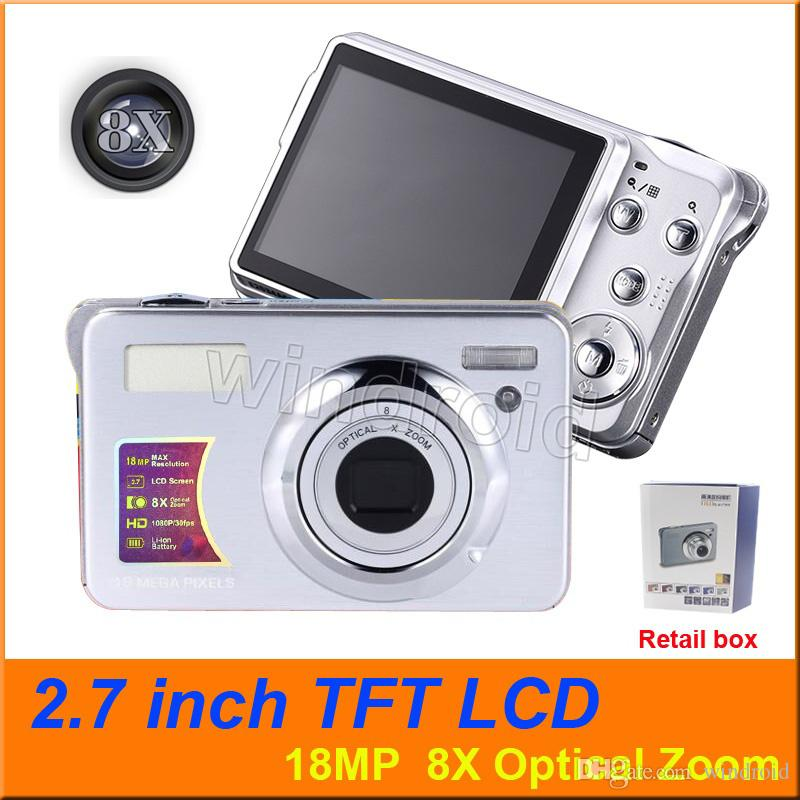 """2.7"""" TFT LCD Digital Cameras Video Recorder 18MP 8X Optical Zoom 1080P HD Camera Anti-shake Face Detection COMS DV DC-KG930 cheap by DHL 50"""