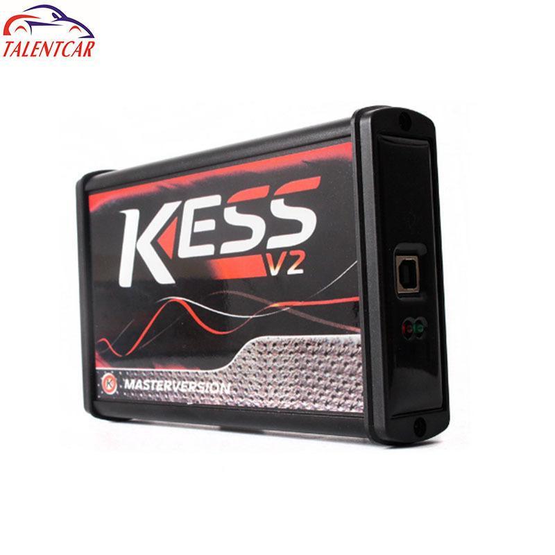 Línea V5.017 UE Kess OBD2 V2 Director de sintonización Kit Red KTAG V7.020 Sin simbólico KTAG 7.020 Maestro v2.23 ECU programador de la llave de transpondedor Diagun