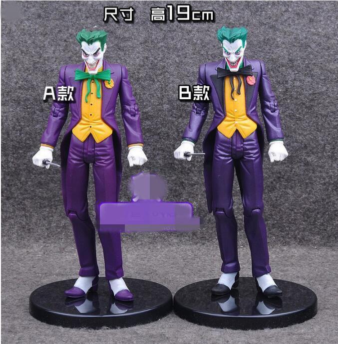 6pcs / lot 19cm = 7.5inch Avengers super-héros Batman Le Joker PVC Figurine Collection jouets modèle mixte deux design