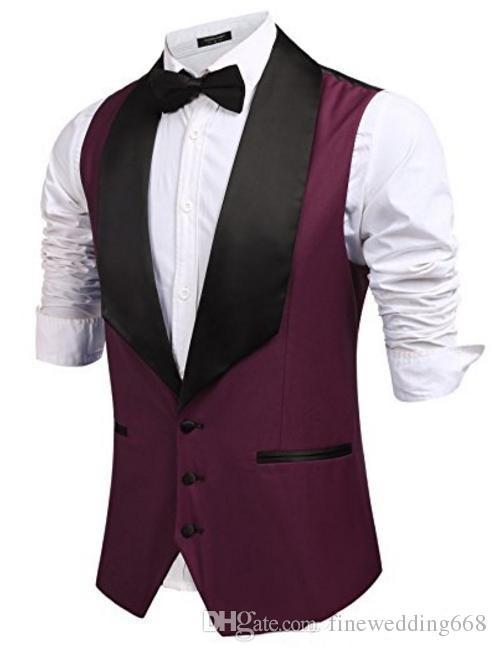 Cheap And Fine Custom Color tweed Vests Wool Herringbone British style custom made Mens suit tailor slim fit Blazer wedding suits for men