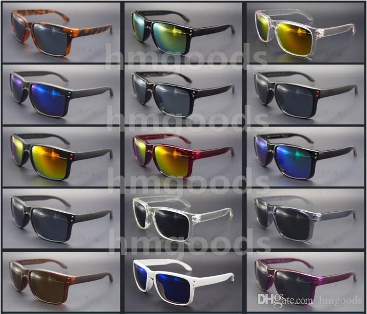 Lot neues Markendesign Sport Glanz Außen Brillen Dot-Reisen Reflective Platz Frau Mann Brille Sonnenbrillen Spiegel Unisex Großhandel