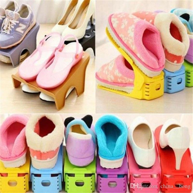 Multi-color Display Rack Shoes Organizer salvaspazio in plastica Storage giardino di casa per gli uomini woem scarpe da donna