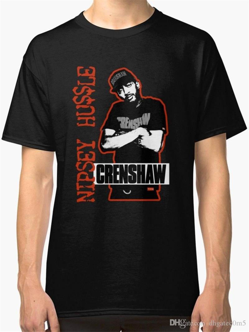 New Fashion T Shirt Graphic Letter Short O-Neck Compression Mens Nipsey Hussle Chrenshaw T Shirts
