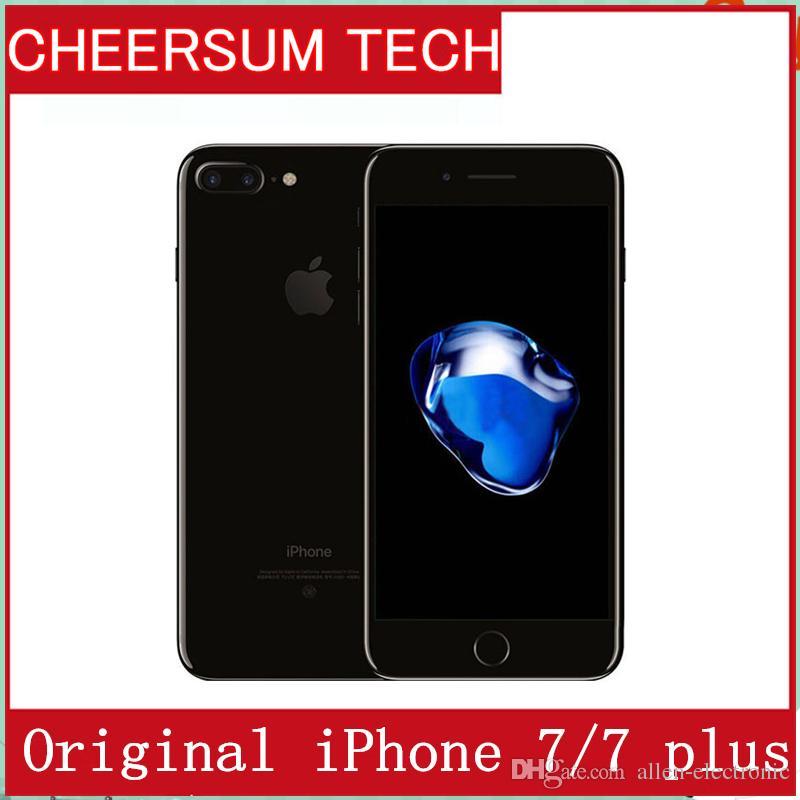 Refurished 100% Original iPhone 7/ 7 plus ios10 Quad Core 2GB RAM 32GB 128GB 256GB ROM 12.0MP 4K Video 4G Mobile phone with touch id
