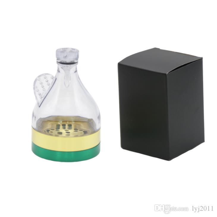Nuova sigaretta raccordi tre strati 63 millimetri concavo color match smoke grinder sigaretta in lega di zinco