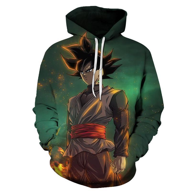 Teen Fashion Hoodie Hooded Sweatshirt Pocket Youth Boys Girls Sweaters,Dragon Ball Z Goku
