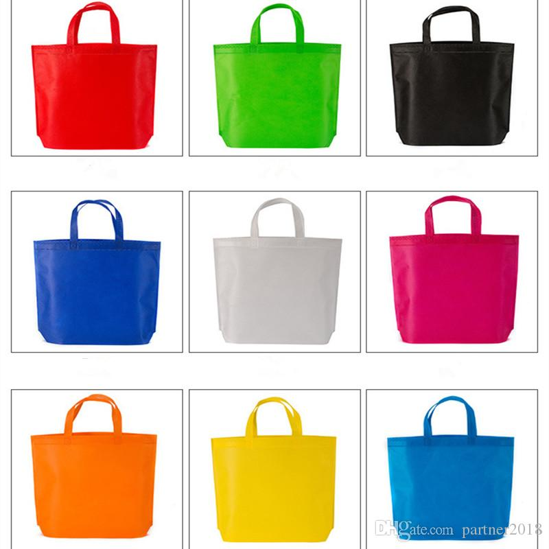Navio rápido Eco Friendly Saco de Compras Ambiental Reutilizável Dobrável Tote Não Tecido Sacola de Armazenamento De Supermercado Recusar saco de mão de resíduos de plástico