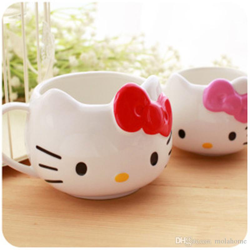 Discount Hello Kitty Cute Personality Breakfast Milk Cup Creative Hello Kitty Coffee Ceramic Mark Cup From Home8888 13 99 Dhgate Com