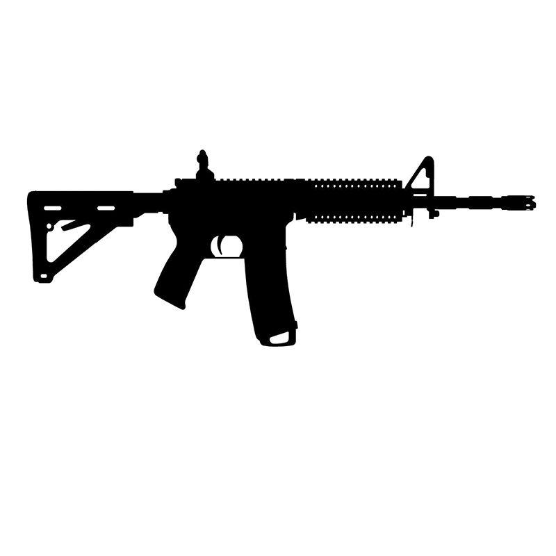"Calcomanía M16 AR15 12 ""x4.1"" ¡elige color! pegatina de vinilo derecha frente a CA-227"