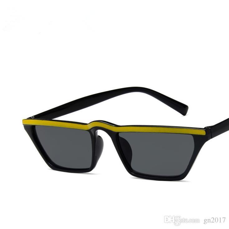Moda Kadın Erkek Marka Tasarımcısı Kişilik Güneş Gözlüğü Küçük Çerçeve Güneş Gözlükleri Gözlük Anti-UV Gözlük A ++