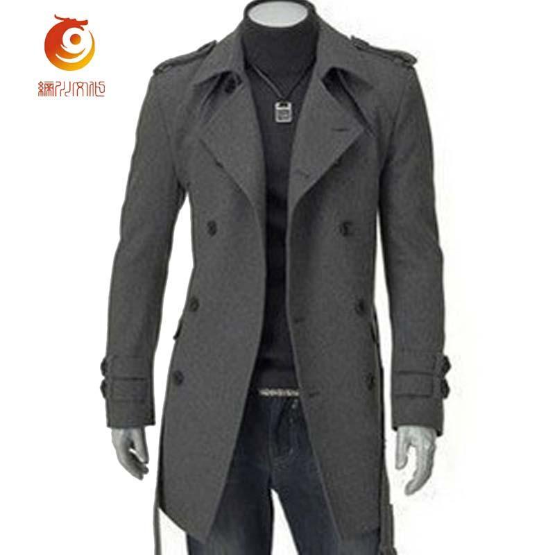 Großhandel Neue Ankunft Winter Herren Mantel Dicke Wollmantel Männer Slim Fit Zweireiher Jacken Mode Abzeichen Langen Mantel Größe 3XL Von Suitfit,