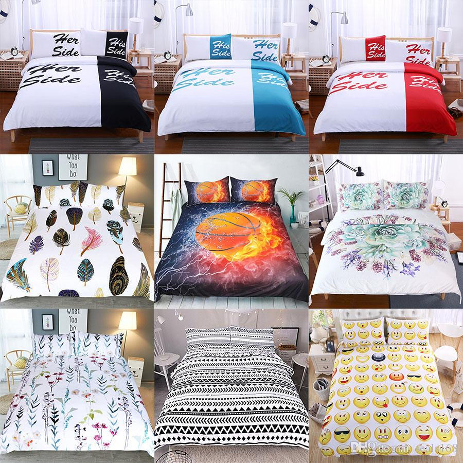 Duvet Cos.3d Printed Bedding Sets Luxury Duvet Cover Pillowcases Home Bedding Supplies Christmas Decorative 45 Style Free Dhl Hh7 1807 Queen Comforter Daybed